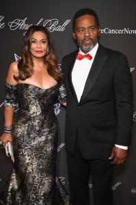 Tina Knowles with Husband Richard Lawson
