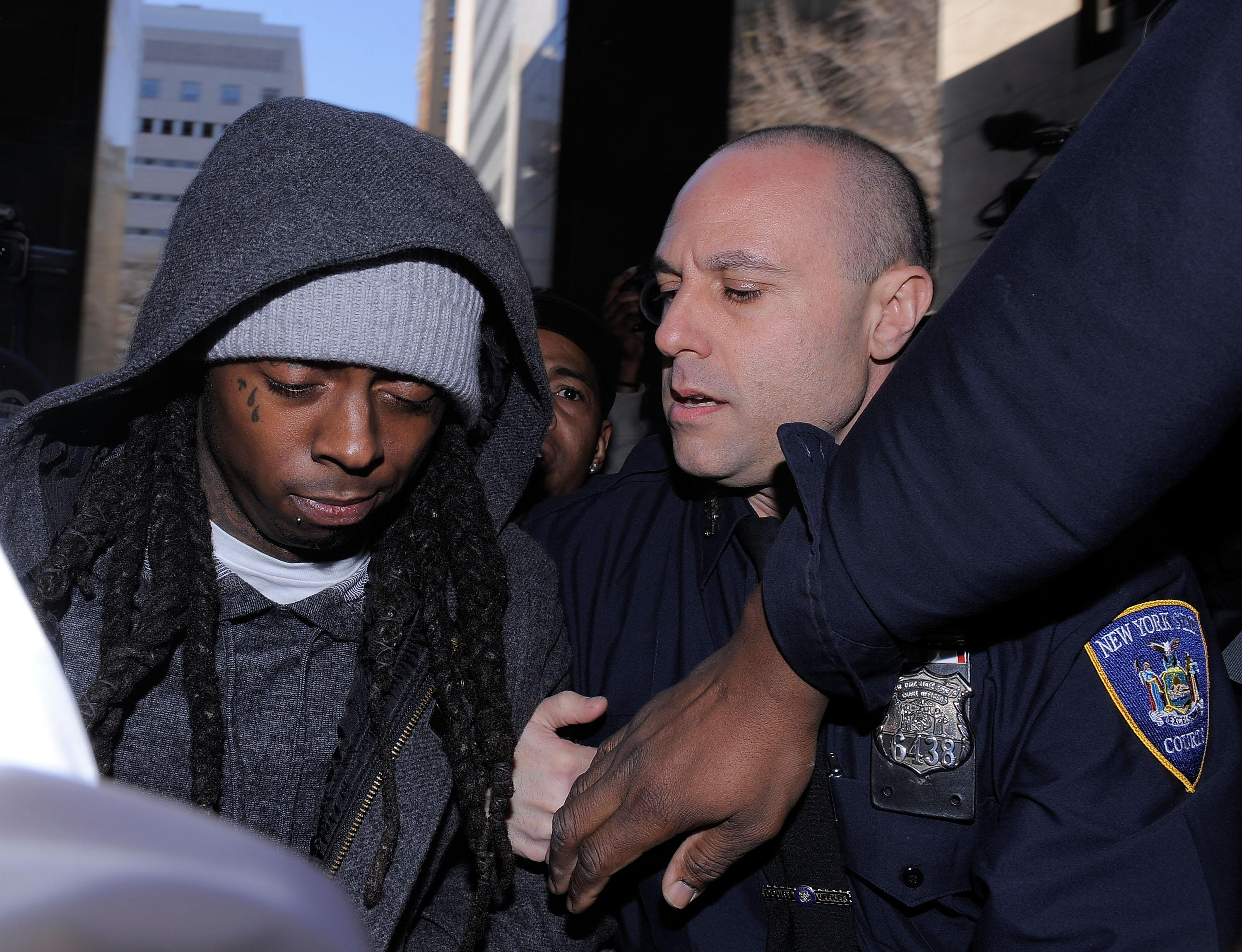 Lil Wayne Arrives In Court For Weapon Charges