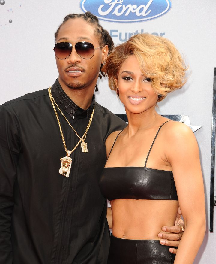 """Former fiancee Ciara has a tattoo of the letter """"N"""" on her ring finger for Nayvadius."""
