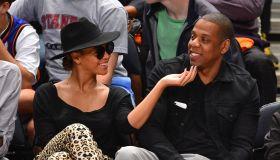 Celebrities Attend New York Knicks Vs Miami Heat - April 15, 2012
