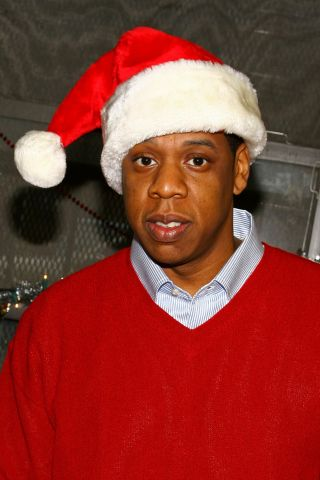 Jay-Z Gives Out Presents In Old Neighborhood