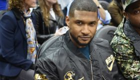Celebrities Attend Golden State Warriors v Atlanta Hawks Game