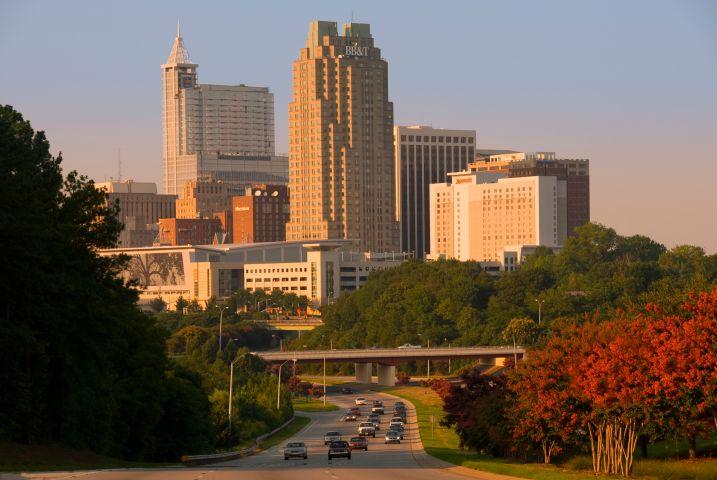 city center of Raleigh, North Carolina