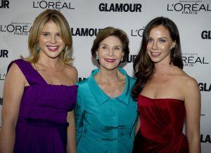Jenna Bush Hagar (L), Laura (C) and Barb