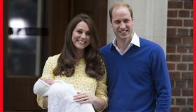 Kate Middleton & Prince William present their baby girl after giving birth
