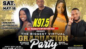 K97.5 Presents North Carolina's Largest Virtual Graduation Party