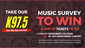 Take Our Music Survey Today To Win Tickets To See J. Cole & NC A&T Homecoming Concert